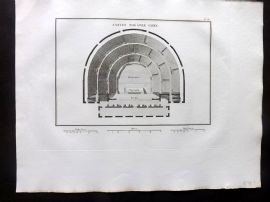 Barthelemy 1824 Antique Print. Ancien Theatre Grec. Greece
